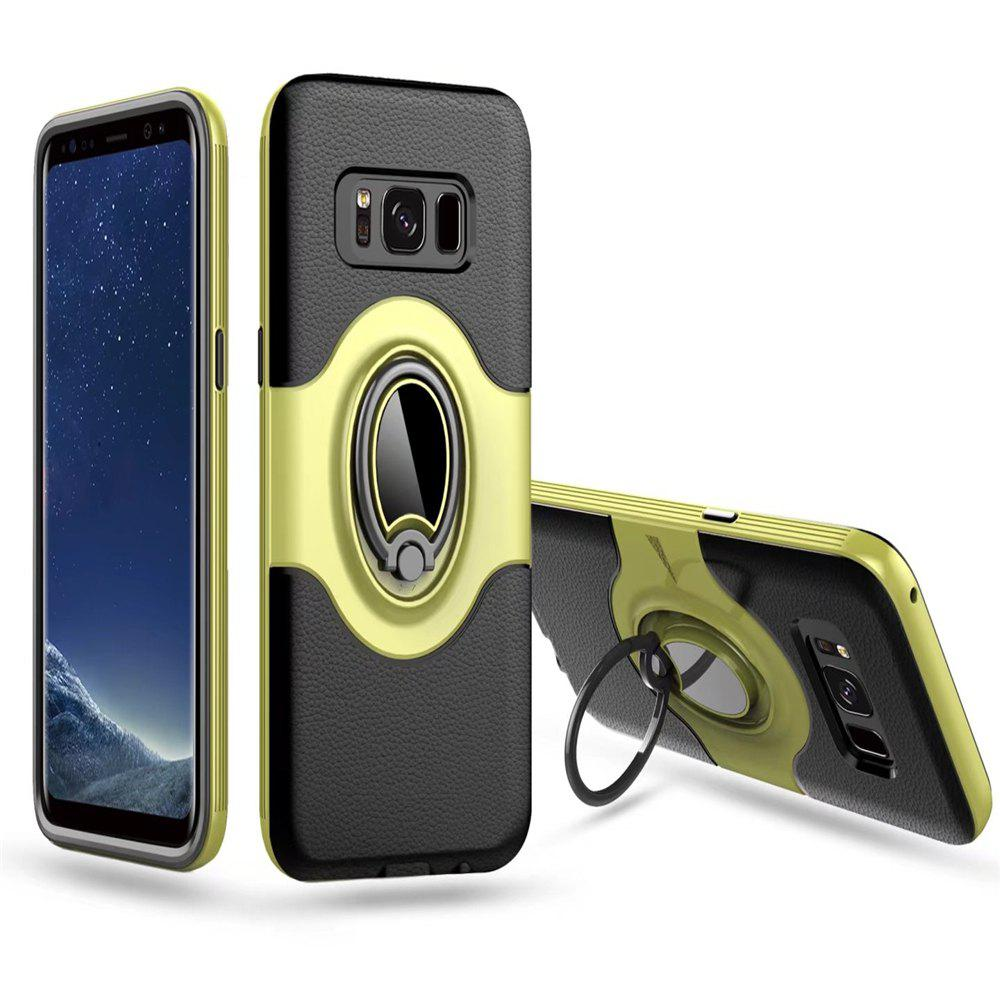 Store Hybrid Slim TPU Bumper Protective  with 360 Degree Rotating Metal Ring Holder Kickstand Case for Samsung Galaxy S8 Plus