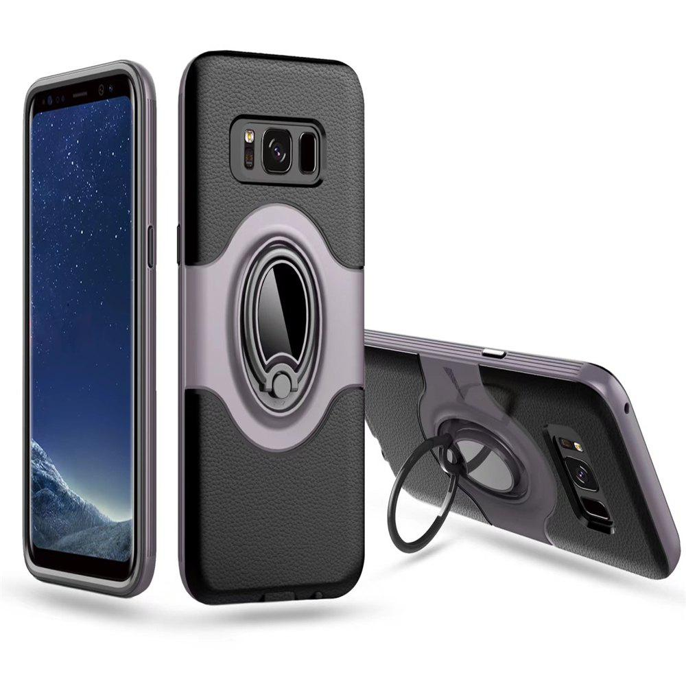 Cheap Hybrid Slim TPU Bumper Protective  with 360 Degree Rotating Metal Ring Holder Kickstand Case for Samsung Galaxy S8 Plus