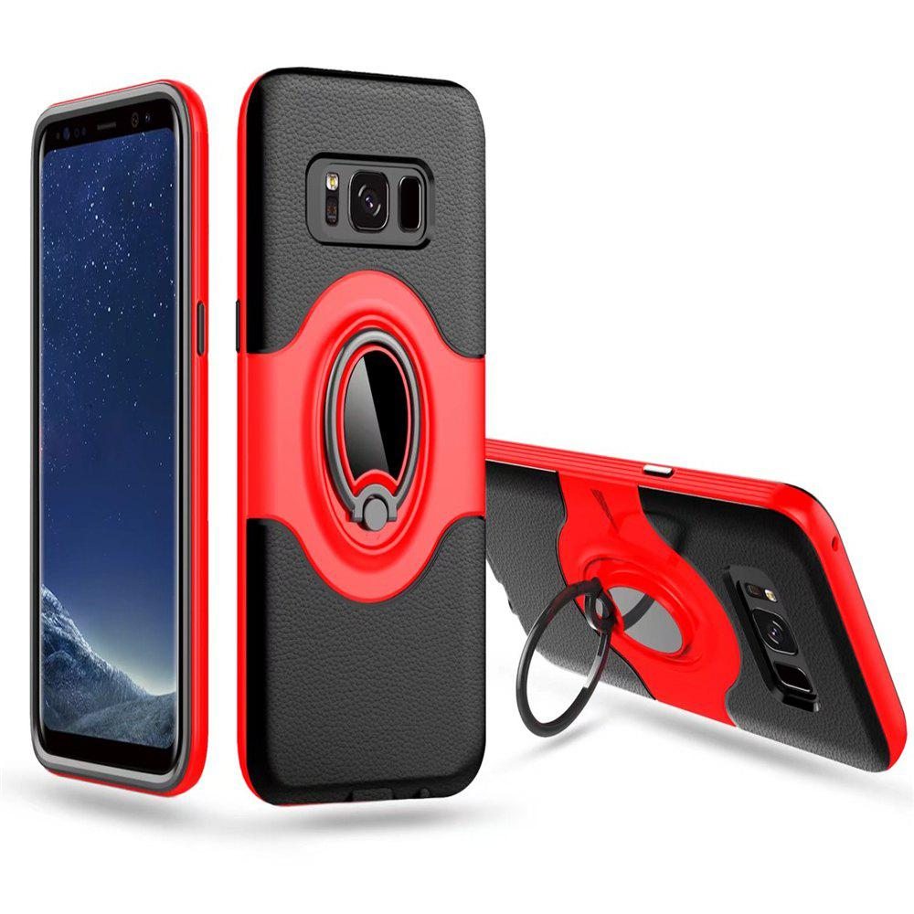 Latest Hybrid Slim TPU Bumper Protective  with 360 Degree Rotating Metal Ring Holder Kickstand Case for Samsung Galaxy S8 Plus