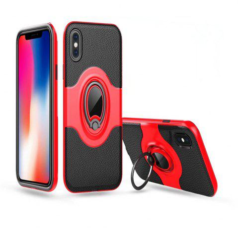 Buy Hybrid Slim TPU Bumper Protective with 360 Degree Rotating Metal Ring Holder Kickstand Case for iPhone X