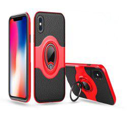 Hybrid Slim TPU Bumper Protective with 360 Degree Rotating Metal Ring Holder Kickstand Case for iPhone X -
