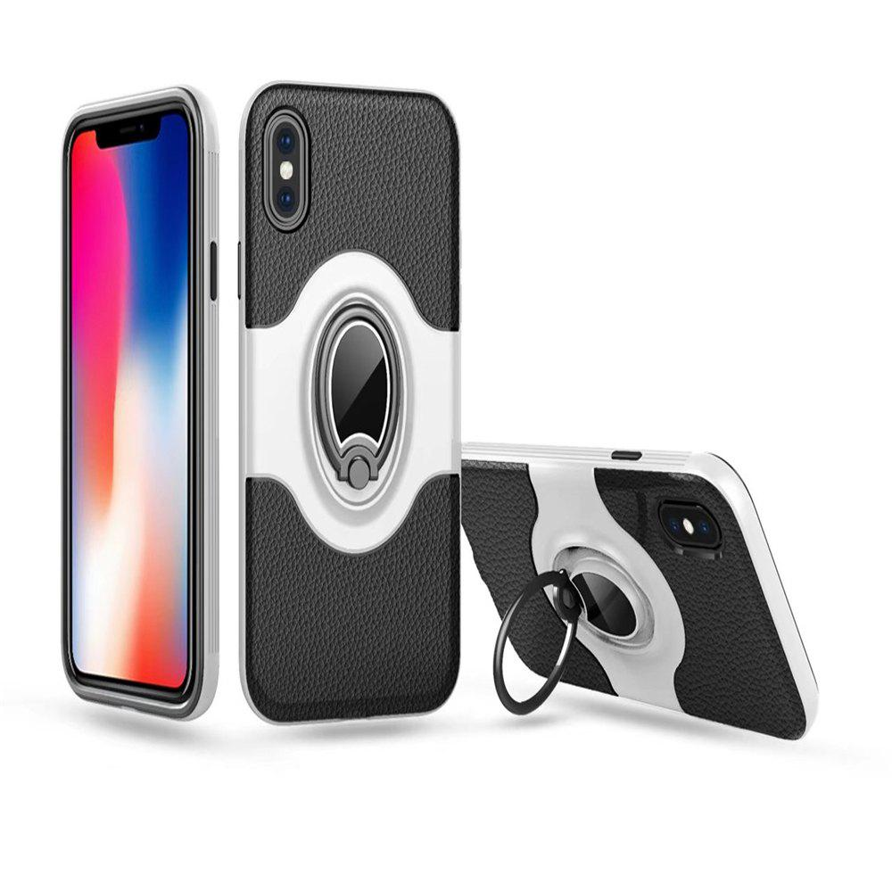 Unique Hybrid Slim TPU Bumper Protective with 360 Degree Rotating Metal Ring Holder Kickstand Case for iPhone X