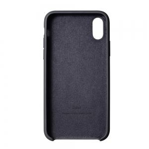 Liquid Silicone Gel Rubber Slim Fit Soft Mobile Phone with Microfiber Cloth Lining Cushion Case for iPhone X -