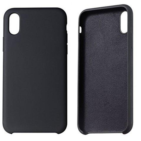 New Liquid Silicone Gel Rubber Slim Fit Soft Mobile Phone with Microfiber Cloth Lining Cushion Case for iPhone X