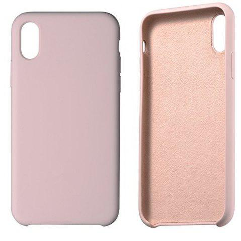 Chic Liquid Silicone Gel Rubber Slim Fit Soft Mobile Phone with Microfiber Cloth Lining Cushion Case for iPhone X