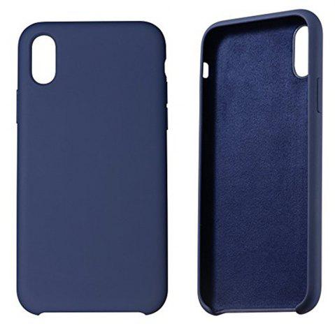 Trendy Liquid Silicone Gel Rubber Slim Fit Soft Mobile Phone with Microfiber Cloth Lining Cushion Case for iPhone X