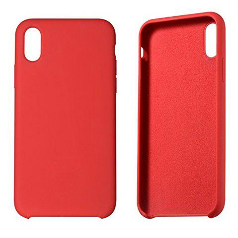 Cheap Liquid Silicone Gel Rubber Slim Fit Soft Mobile Phone with Microfiber Cloth Lining Cushion Case for iPhone X
