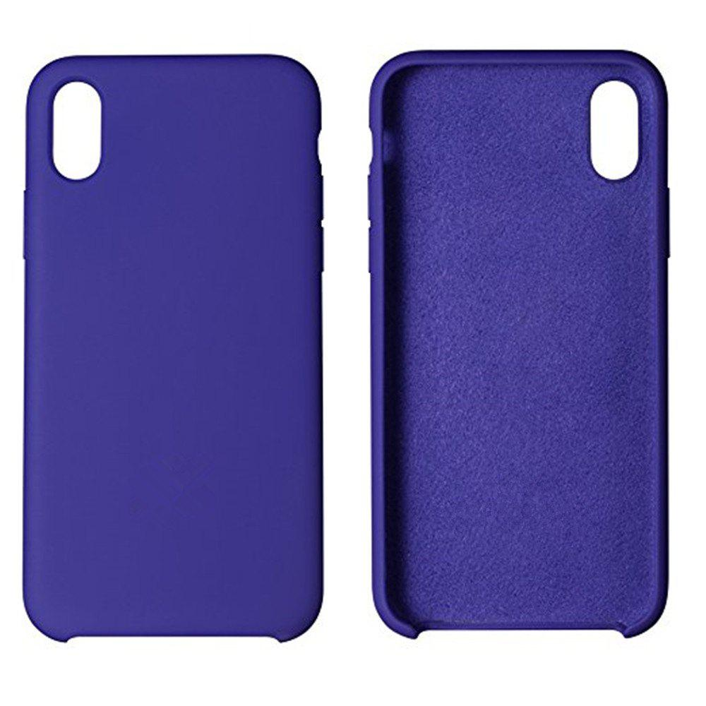Latest Liquid Silicone Gel Rubber Slim Fit Soft Mobile Phone with Microfiber Cloth Lining Cushion Case for iPhone X