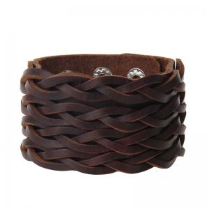 Fashion Leather Double Braid Bracelet -