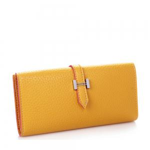 Lichee Print 2 Fold Long Style Female Purse -