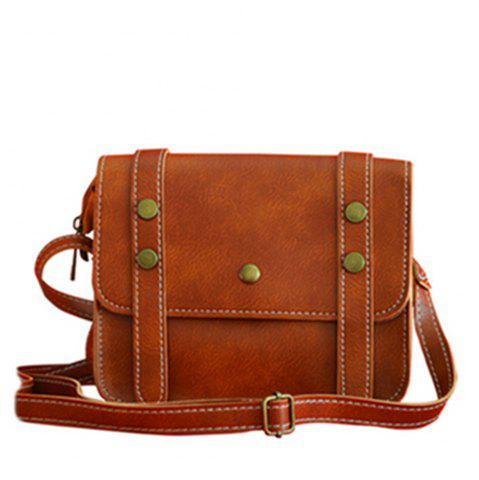 Fashion Women's Crossbody Vintage Faux Leather Studded Bag