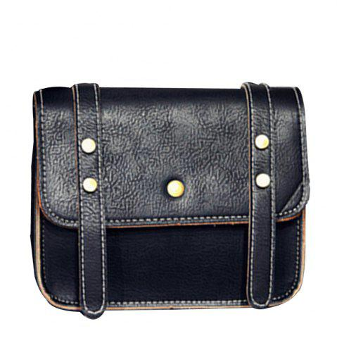 Online Women's Crossbody Vintage Faux Leather Studded Bag