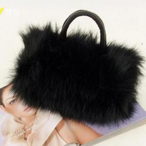 Women's Handbag Exquisite Solid Fluffy Charm Bag -