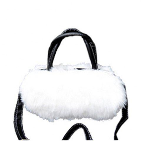 Affordable Women's Handbag Exquisite Solid Fluffy Charm Bag