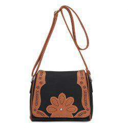Women's Crossbody Bag Retro Mori Girl Style Floral Patchwork Bag -