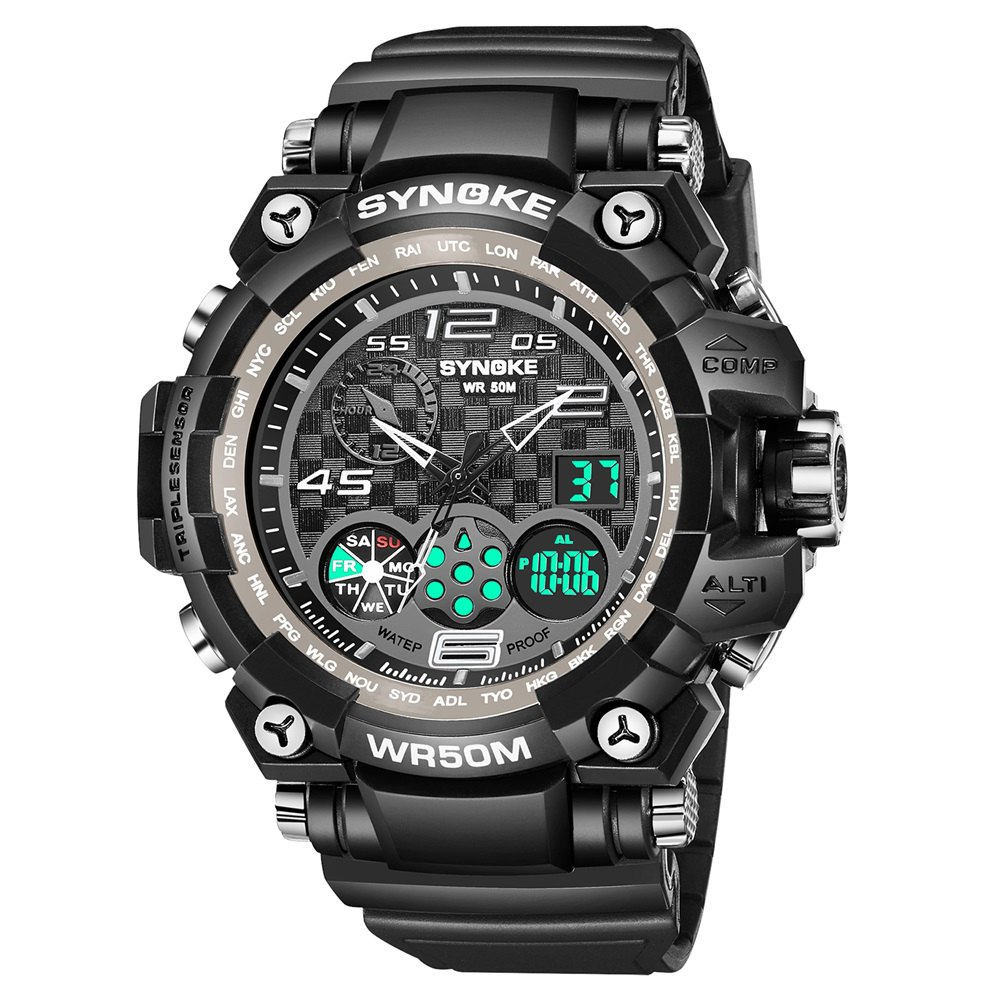 Online SYNOKE 67386 Trendy Sports Multifunctional Man Watch