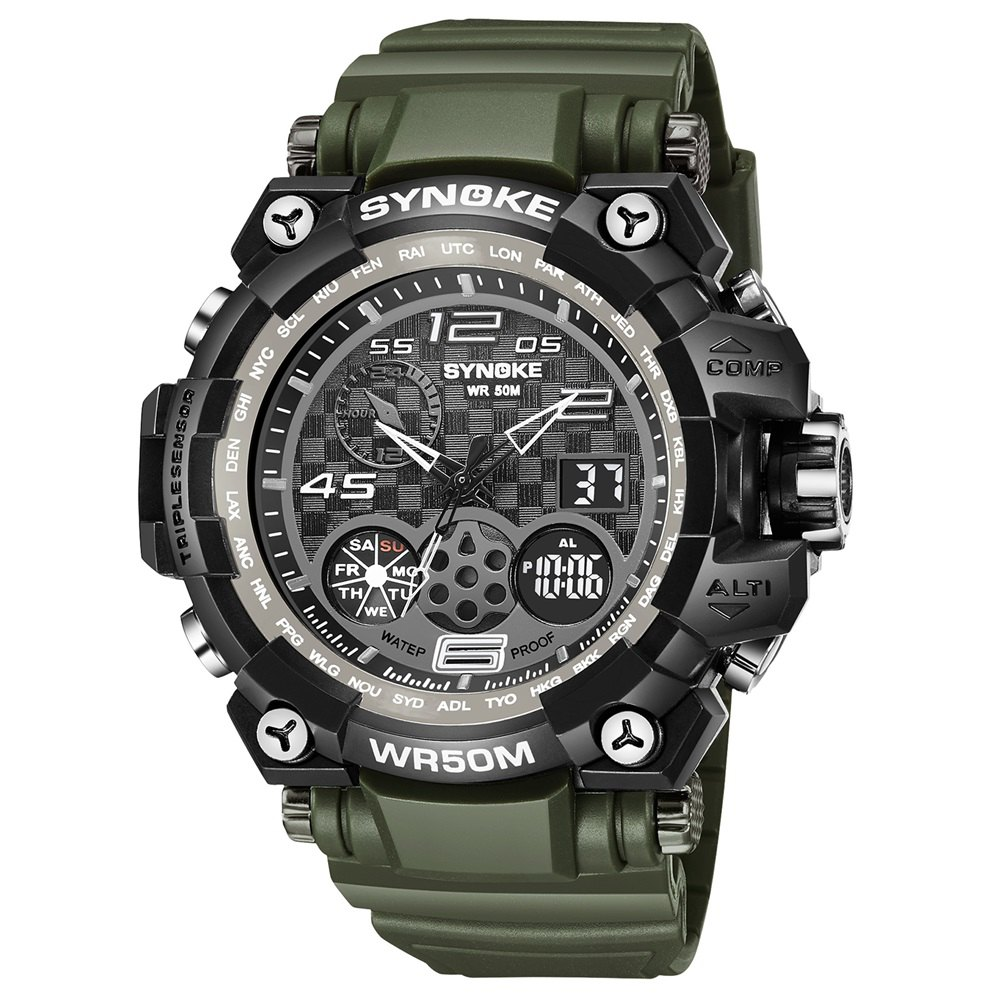 Affordable SYNOKE 67386 Trendy Sports Multifunctional Man Watch