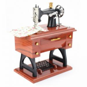 Retro Vintage Sewing Machine Music Box Birthday Gift Home Decoration -