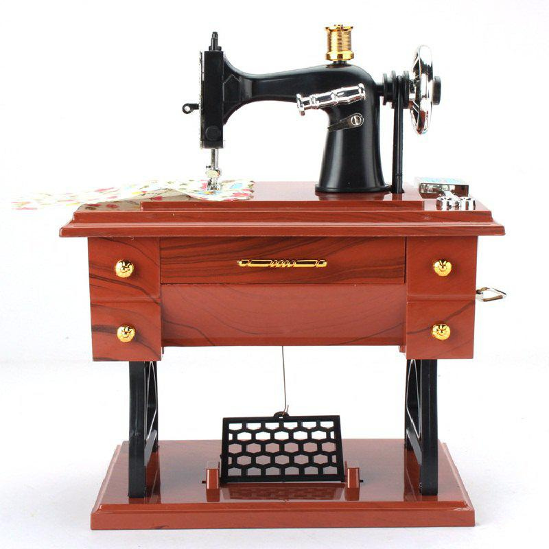 Outfit Retro Vintage Sewing Machine Music Box Birthday Gift Home Decoration