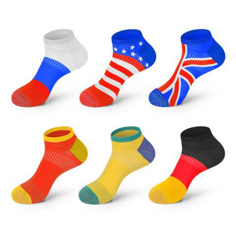 Shops 6 Pairs Antibacterial and Deodorant National Flag Socks Special Edition