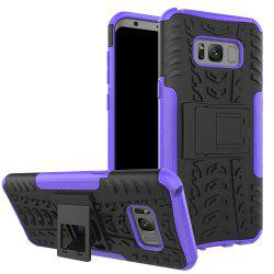 Double Protections Phone Bracket Anti-drop Relief Case Back Cover Protector for Samsung Galaxy S8 -