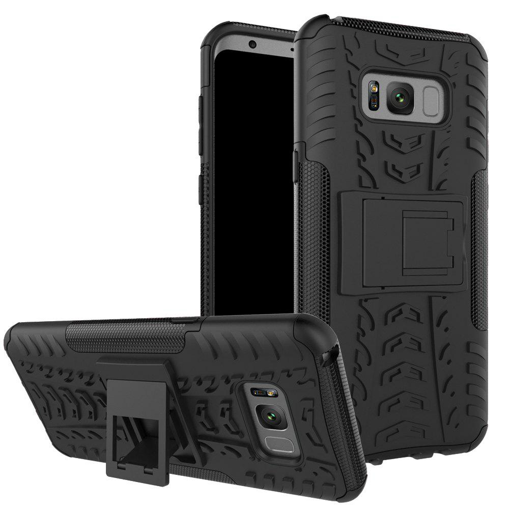 Fashion Double Protections Phone Bracket Anti-drop Relief Case Back Cover Protector for Samsung Galaxy S8