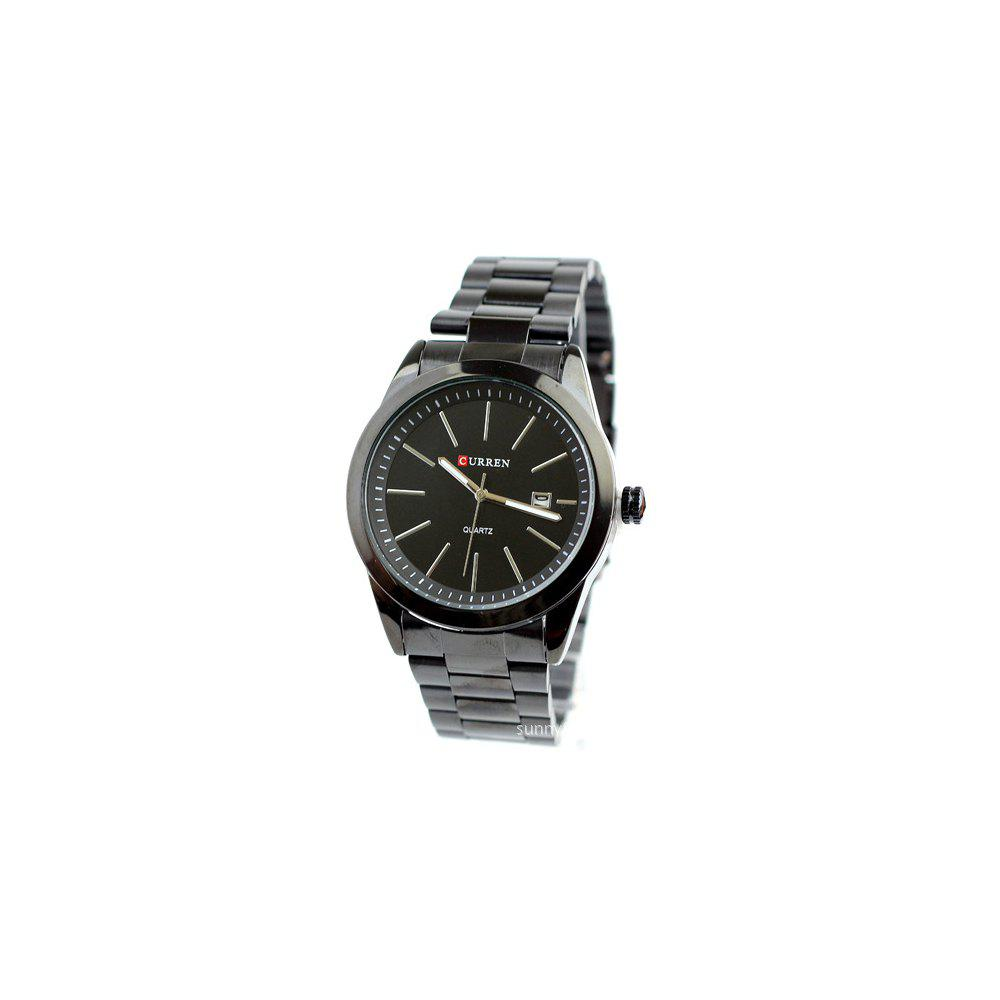 Chic Curren 8091 1267 Stylish Steel Band Men Quartz Watch with Calendar