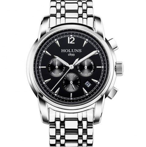 Online HOLUNS 4872 Men Business Casual Steel Band Automatic Mechanical Watch