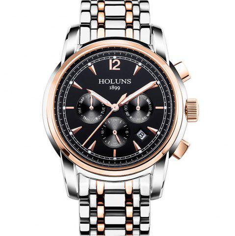 Shop HOLUNS 4872 Men Business Casual Steel Band Automatic Mechanical Watch