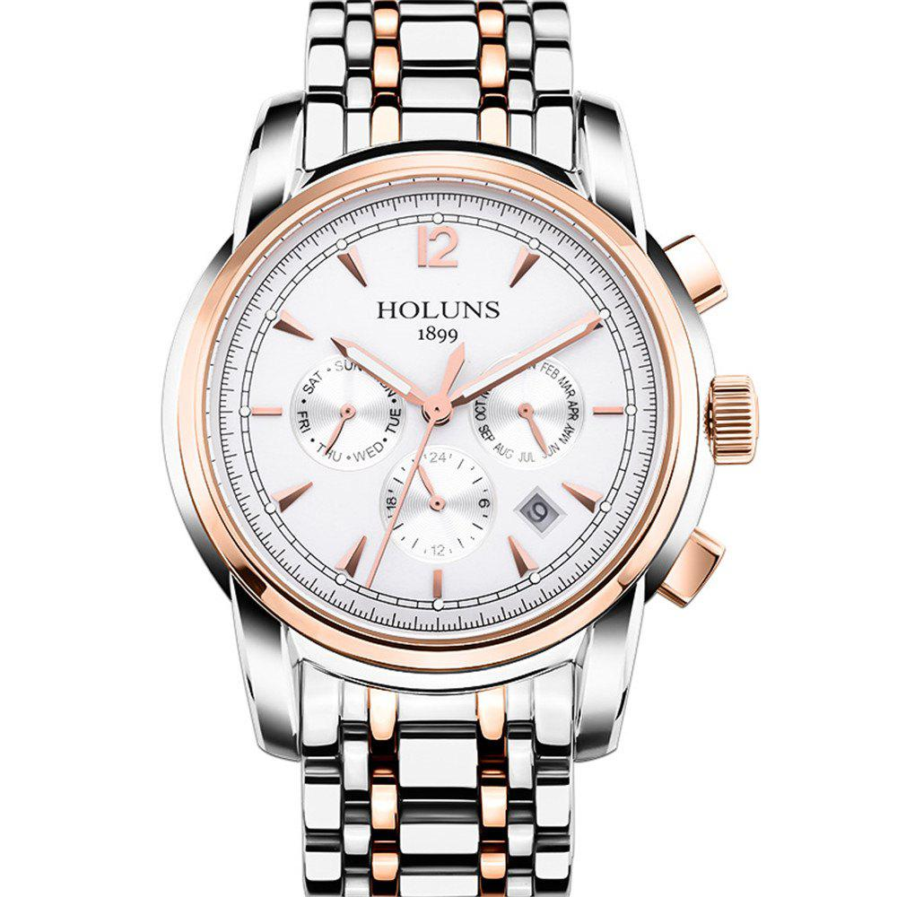 Unique HOLUNS 4872 Men Business Casual Steel Band Automatic Mechanical Watch