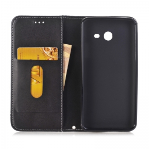 Truck Suction Line Card Lanyard Pu Leather Cover for Samsung Galaxy J5 2017 -