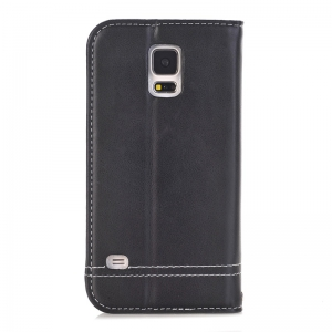 Truck Suction Line Card Lanyard Pu Leather Cover for Samsung Galaxy S5 -