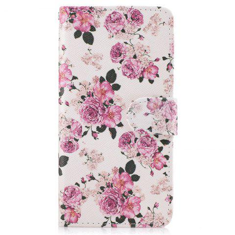 Sale Dandelion Painting Card Lanyard Pu Leather Cover for Samsung A3 2017