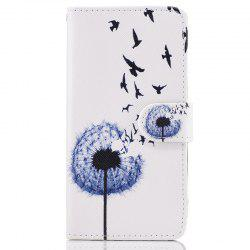 Dandelion Painting Card Lanyard Pu Leather Cover for Samsung A3 2017 -