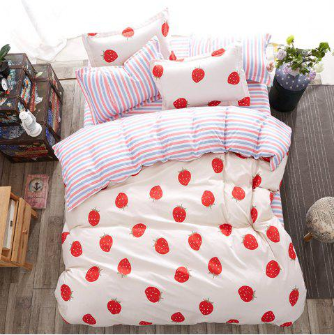 Chic Fashion Strawberry Heart Personalized Polyester Bedding Set