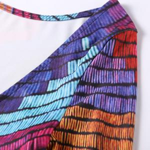 Chromatic Stripe Backless Dress -