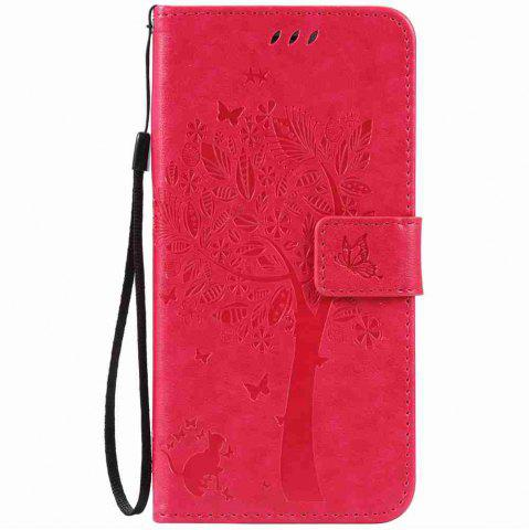 Buy Embossed Cat and Tree PU TPU Phone Case for iPhone 7 Plus / 8  Plus