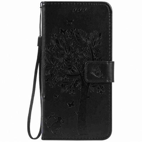 New Embossed Cat and Tree PU TPU Phone Case for iPhone 7 Plus / 8  Plus