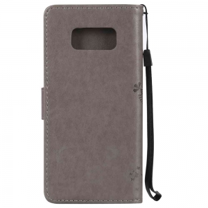 Embossed Cat and Tree PU TPU Чехол для Samsung Galaxy S8 -