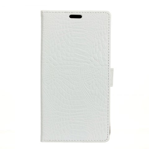 Shops Wkae Retro Crocodile Pattern Business Leather Case for Wiko View