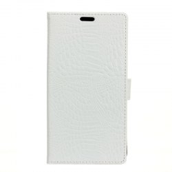 Wkae Retro Crocodile Pattern Business Leather Case for Wiko View -