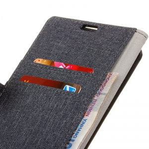 Wkae Solid Color Linen Texture Holster Case for Huawei Honor 7X -
