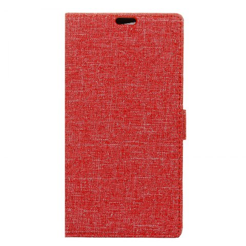 Unique Wkae Solid Color Linen Texture Holster Case for Huawei Honor 7X