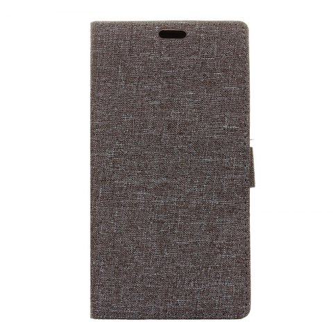 Online Wkae Solid Color Linen Texture Holster Case for Huawei Honor 7X