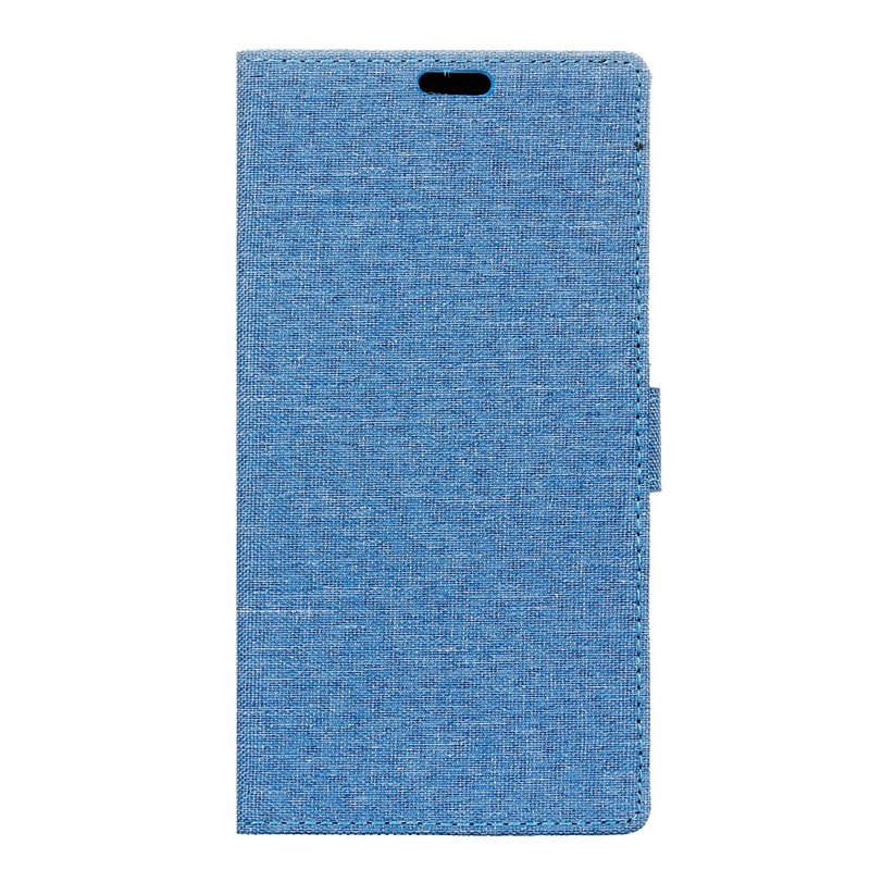 Outfits Wkae Solid Color Linen Texture Holster Case for Huawei Honor 7X
