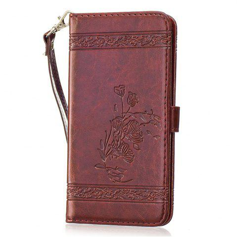 Unique Genuine Quality Retro Style Oil Wax Flower Pattern Flip PU Leather Wallet Case for Samsung Galaxy S7 Edge