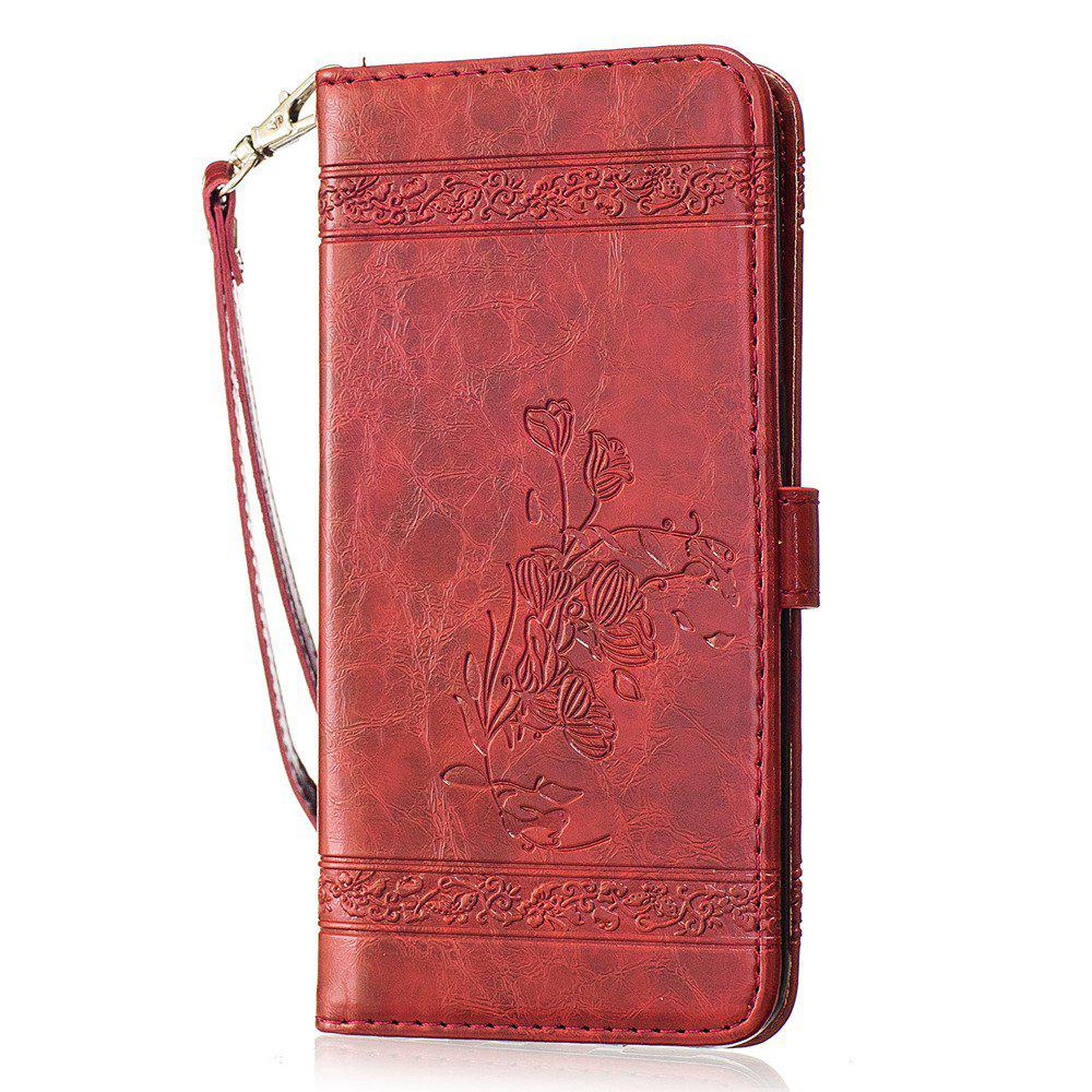 New Genuine Quality Retro Style Oil Wax Flower Pattern Flip PU Leather Wallet Case for Samsung Galaxy S7 Edge