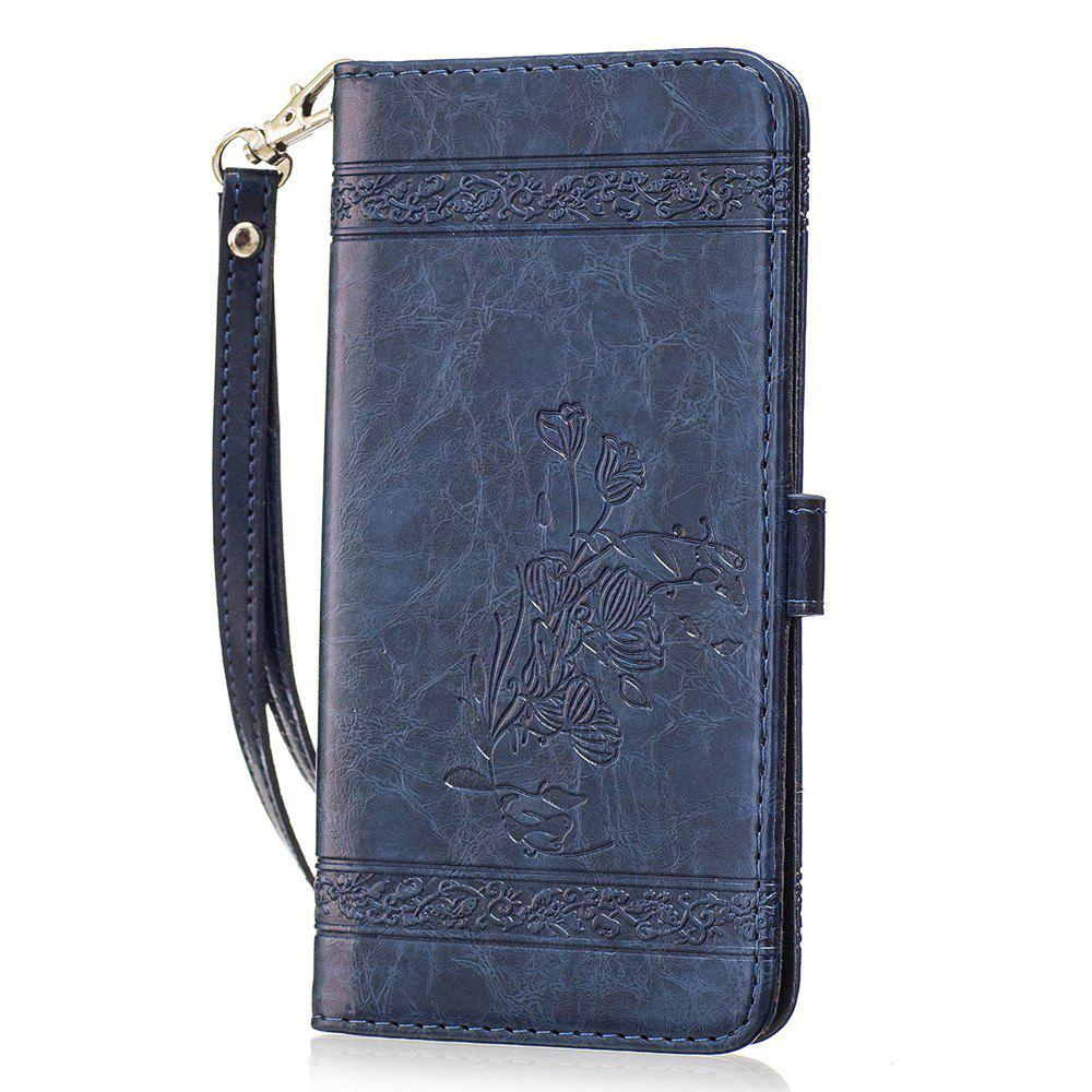 Hot Genuine Quality Retro Style Oil Wax Flower Pattern Flip PU Leather Wallet Case for Samsung Galaxy S7 Edge