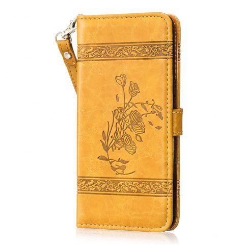 Fashion Genuine Quality Retro Style Oil Wax Flower Pattern Flip PU Leather Wallet Case for Samsung Galaxy S8