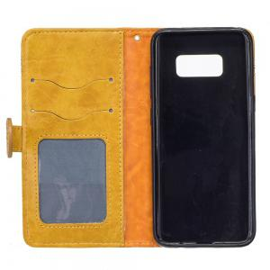 Genuine Quality Retro Style Oil Wax Flower Pattern Flip PU Leather Wallet Case for Samsung Galaxy S8 Plus -